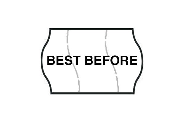 Best Before Black & White Permanent Labels (Tamper Proof)