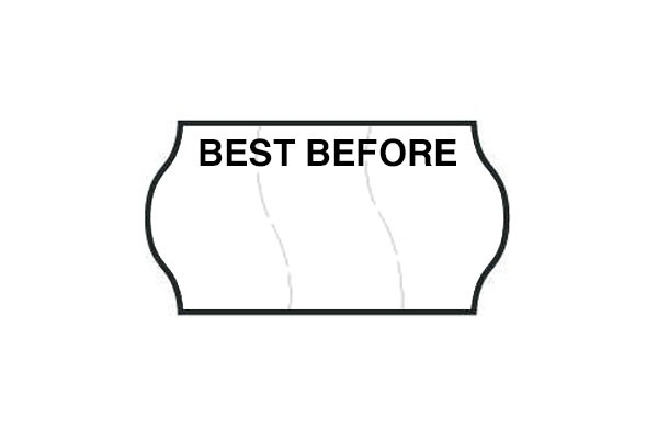 Best Before - Black & White Permanent Labels (Tamper Proof)