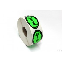 Special Labels - Fluorescent Green
