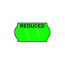 Reduced - Fluorescent Green Permanent Labels (Tamper Proof)