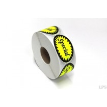 Special Labels - Fluorescent Yellow