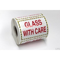 """""""Glass With Care"""" Labels"""