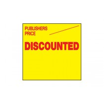 Publishers Price Discounted - Fluorescent Yellow & Red Labels