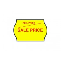 Sale Price - Fluorescent Yellow Permanent Labels