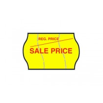 Sale Price - Fluorescent Yellow Permanent Labels (Tamper Proof)