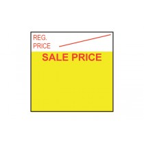 Reg. Price Sale Price Red Yellow Removable Labels